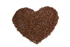Coffee beans, heart logo Royalty Free Stock Image