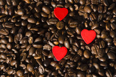 Coffee Beans with heart Royalty Free Stock Image
