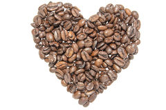 Coffee Beans Heart Shape Royalty Free Stock Photos