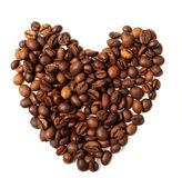 Coffee beans heart Stock Image