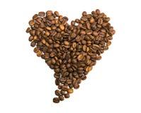 Coffee beans, heart shape Stock Photos
