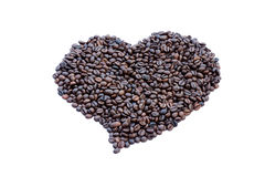 Coffee beans heart shaped. Stock Images