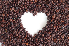 Coffee beans heart Stock Photo