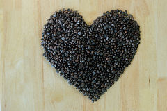 Coffee beans heart. Stock Photography