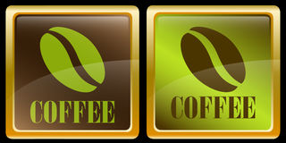 Coffee beans icons Royalty Free Stock Images