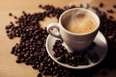 Coffee with  beans Stock Image