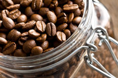 Free Coffee Beans In Glass Jar Royalty Free Stock Image - 26224506