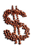 Coffee Beans In Shape Of Dollar Sign Royalty Free Stock Images