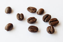 Coffee beans 2. Coffee beans isolate picture composition Royalty Free Stock Photos