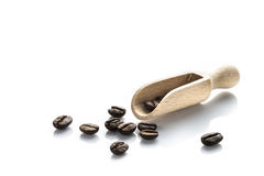 Coffee beans isolate white Royalty Free Stock Photography