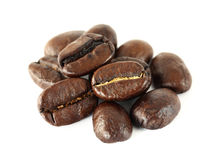 Coffee beans isolated Royalty Free Stock Image