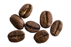 Coffee beans isolated closeup Royalty Free Stock Photo