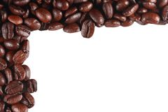 Coffee beans isolated frame Royalty Free Stock Photo