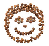 Coffee beans isolated Royalty Free Stock Photography
