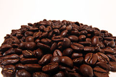 Coffee beans isolated texture background Stock Photos