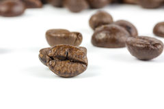 Coffee Beans. Isolated on white Stock Photography