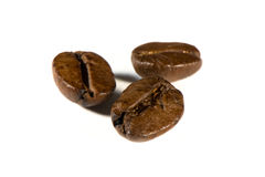 Coffee beans isolated on white Stock Images