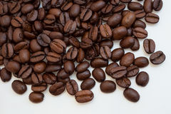 Coffee beans isolated on white. Coffee beans as a background isolated on white Royalty Free Stock Photos
