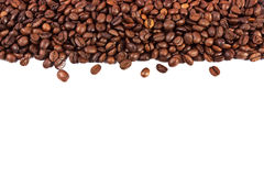 Coffee beans isolated on white background Royalty Free Stock Photo