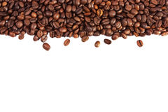 Coffee beans isolated on white background Royalty Free Stock Photography