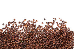 Coffee beans isolated in white background Stock Images