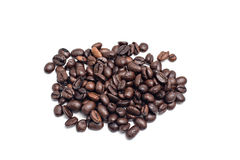Coffee beans isolated Stock Images