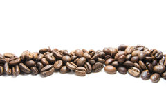 Coffee Beans isolated. On a white background stock photography