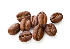 Coffee beans isolated on white background. Coffee. Coffee beans isolated on white background Royalty Free Stock Photo