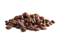 Coffee beans. Isolated on white background Royalty Free Stock Image