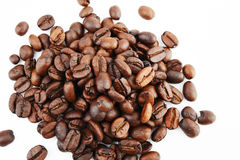 Coffee beans. Isolated on white background Royalty Free Stock Photo