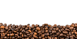 Coffee beans. Isolated on a white background Royalty Free Stock Photos