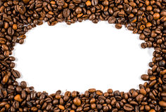 Coffee beans. Isolated on a white background Royalty Free Stock Images