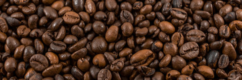 Coffee beans. Isolated on a white background Stock Photos