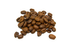 Coffee Beans isolated on white background. Arabica Coffee Beans isolated on white background Royalty Free Stock Photography