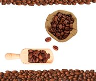 Coffee beans isolated on white background. Cafe Stock Image