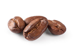 Coffee beans isolated on white background Royalty Free Stock Images