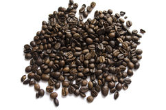 Coffee beans isolated on white background close up. ! Stock Image
