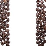 Coffee beans isolated on a white background.  Royalty Free Stock Photo