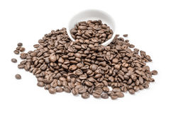 Coffee beans isolated on a white background cutout. Coffee grains isolated on a white background cutout Stock Photos