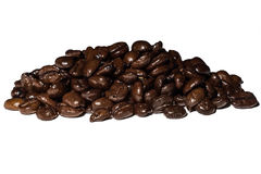 Coffee beans isolated on white background. Macro coffee beans isolated on white background Stock Photos