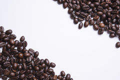 Coffee beans isolated on white background. roasted coffee beans.  Royalty Free Stock Photo