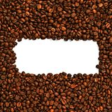 Coffee beans frame background Royalty Free Stock Images