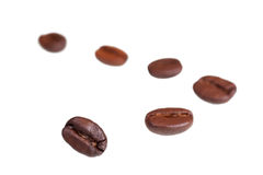 Coffee beans Isolated on white royalty free stock photography