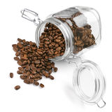 Coffee beans in jar Royalty Free Stock Image