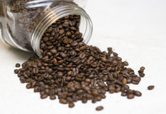 Coffee beans jar. Stock Photos