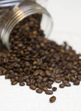 Coffee beans jar. Royalty Free Stock Photos
