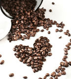 Coffee Beans in a jar. Royalty Free Stock Photography