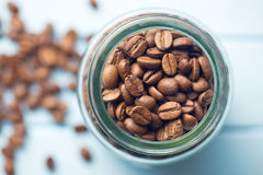 Coffee beans in jar Royalty Free Stock Photos