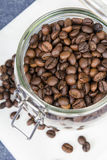Coffee beans in a jar Royalty Free Stock Photos