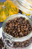 Coffee beans in a jar Royalty Free Stock Image